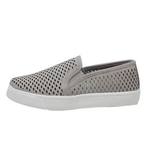 Shoes - Clay Perforated Elastic White Sole Slip On Loafer
